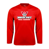 Performance Red Longsleeve Shirt-Trail Running