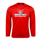 Performance Red Longsleeve Shirt-Trail Running Team