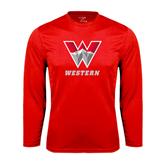 Syntrel Performance Red Longsleeve Shirt-W Western