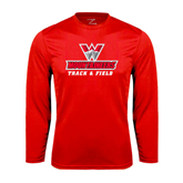 Syntrel Performance Red Longsleeve Shirt-Track and Field