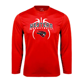 Performance Red Longsleeve Shirt-Basketball in Ball