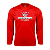 Performance Red Longsleeve Shirt-Climbing