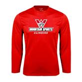 Syntrel Performance Red Longsleeve Shirt-Climbing