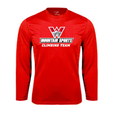 Performance Red Longsleeve Shirt-Climbing Team