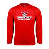 Syntrel Performance Red Longsleeve Shirt-Climbing Team