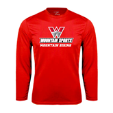 Performance Red Longsleeve Shirt-Mountain Biking