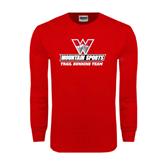 Red Long Sleeve T Shirt-Trail Running Team