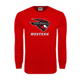 Red Long Sleeve T Shirt-Mad Jack Western