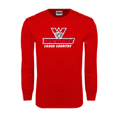 Red Long Sleeve T Shirt-Cross Country