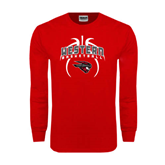 Red Long Sleeve T Shirt-Basketball in Ball