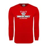 Red Long Sleeve T Shirt-Climbing