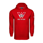 Under Armour Red Performance Sweats Team Hoodie-W Western