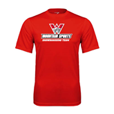 Syntrel Performance Red Tee-Snowboarding