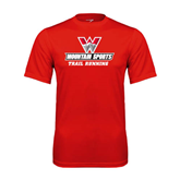Performance Red Tee-Trail Running