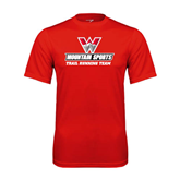Syntrel Performance Red Tee-Trail Running Team