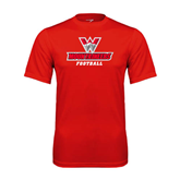 Performance Red Tee-Football