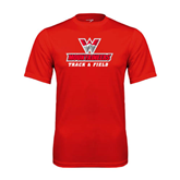 Performance Red Tee-Track and Field