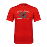 Performance Red Tee-Cross Country Design