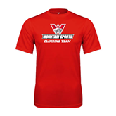 Syntrel Performance Red Tee-Climbing Team