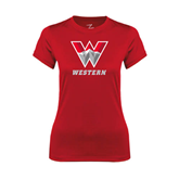 Ladies Syntrel Performance Red Tee-W Western