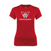Ladies Syntrel Performance Red Tee-W Mountaineers