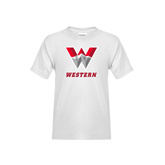 Youth White T Shirt-W Western