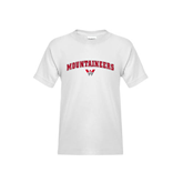 Youth White T Shirt-Arched Mountaineers w/ W