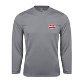 Performance Steel Longsleeve Shirt-Interlocking W Mountaineers - Official Logo