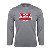 Syntrel Performance Steel Longsleeve Shirt-Interlocking W Mountaineers - Official Logo