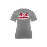 Youth Syntrel Performance Steel Training Tee-Interlocking W Mountaineers - Official Logo