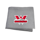Grey Sweatshirt Blanket-Interlocking W Mountaineers - Official Logo