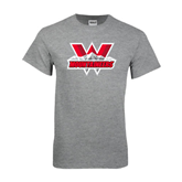 Grey T Shirt-Interlocking W Mountaineers - Official Logo