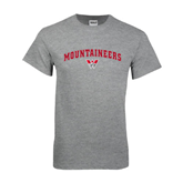 Grey T Shirt-Arched Mountaineers w/ W