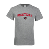Grey T Shirt-Arched Western w/ Mad Jack