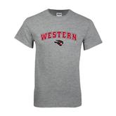 Grey T Shirt-Arched Western w/ Mad Jack