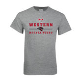 Grey T Shirt-Western Mountaineers Stacked w W and Mad Jack