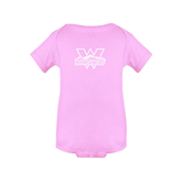 Light Pink Infant Onesie-Interlocking W Mountaineers - Official Logo