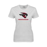 Ladies White T Shirt-Mad Jack Mountaineers
