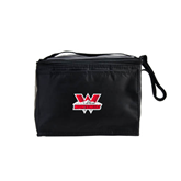 Six Pack Black Cooler-Interlocking W Mountaineers - Official Logo