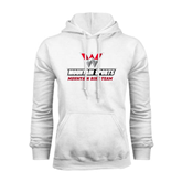 White Fleece Hoodie-Mountain Bike Team