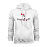 White Fleece Hoodie-Ski Team