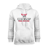 White Fleece Hoodie-Trail Running