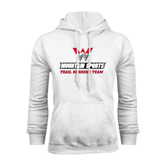 White Fleece Hoodie-Trail Running Team