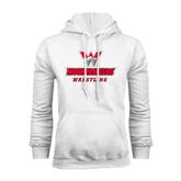 White Fleece Hoodie-Wrestling