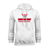 White Fleece Hoodie-Cross Country
