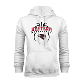 White Fleece Hoodie-Basketball in Ball