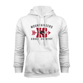 White Fleece Hoodie-Cross Country Design