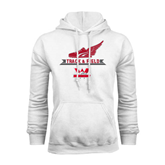 White Fleece Hoodie-Track and Field Side Shoe Design