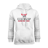 White Fleece Hoodie-Climbing Team