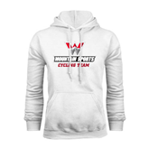 White Fleece Hoodie-Cycling Team